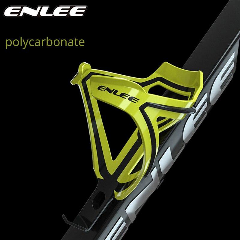 Enlee mtb bicicleta garrafa titular garrafa de policarbonato gaiola estrada mountain bike ultraleve altamente elástico acessórios ciclismo peças