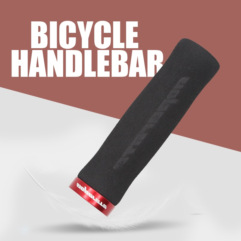 Pcycling apertos de bicicleta arco antiderrapante esponja de espuma mtb bicicleta de estrada macio e confortável apertos ergonômicos com fechadura lidar com apertos