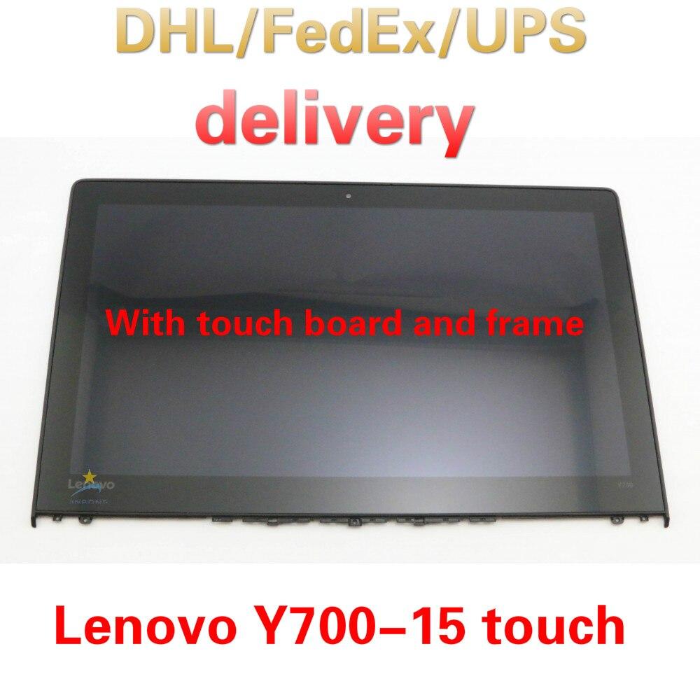 5D10H71488 Original nouveau complet Lenovo Ideapad Y700-15ISK (80NW) FHD 15.6 LCD écran tactile LED numériseur assemblage lunette