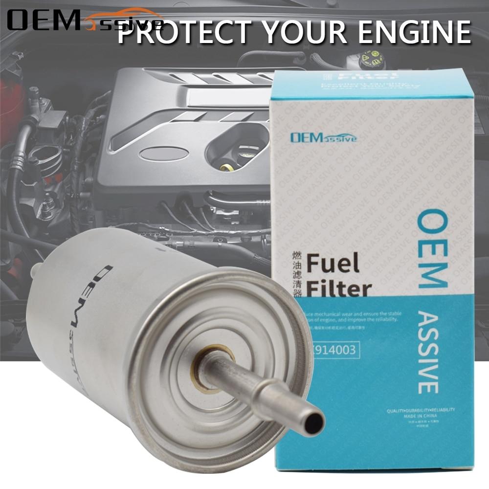1Pc Fuel Filter For FORD Focus Petrol 1.8L 2.0L C Max 2 Explorer U MAZDA 3 BK Petrol 2.3L Volvo C30 C70 S40 V50 Jaguar XF S Type