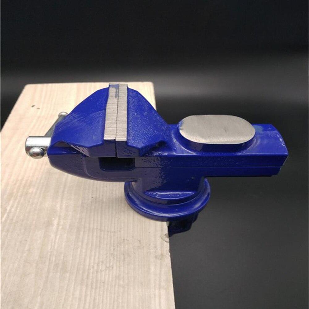 Nuevo tornillo de sujeción mecánico para mesa de 360 grados con Base giratoria y abrazadera superior de hierro fundido con yunque