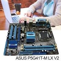 ASUS P5G41T-M LX V2 Motherboard DDR3 8GB G41 P5G41T-M LX V2 X16 Computador Desktop Mainboard PCI-E VGA p5G41T Usado
