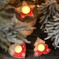 lovely candlestick christmas decorations for home candle holders navidad 2021 home decoration accessories new year 2022 decor