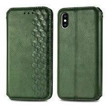 Caso da aleta de luxo para o iphone xr xs 11 pro max x 8 7 6s mais se couro titular do cartão magnético silicone capa para o suporte da carteira coque