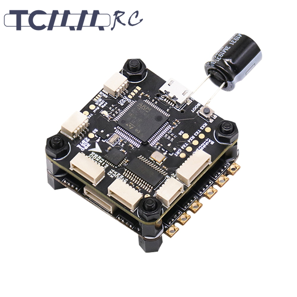 TCMMRC 50A ESC Novice Flying stack Flight Controller 50A ESC 2-6S Dshot600 4IN1 FPV Racing Drone Racer iflight succex e mini f7 35a 4 in 1 esc 2 6s flight stack mpu6000 with succex mini force 5 8ghz 300mw vtx for fpv racing drone