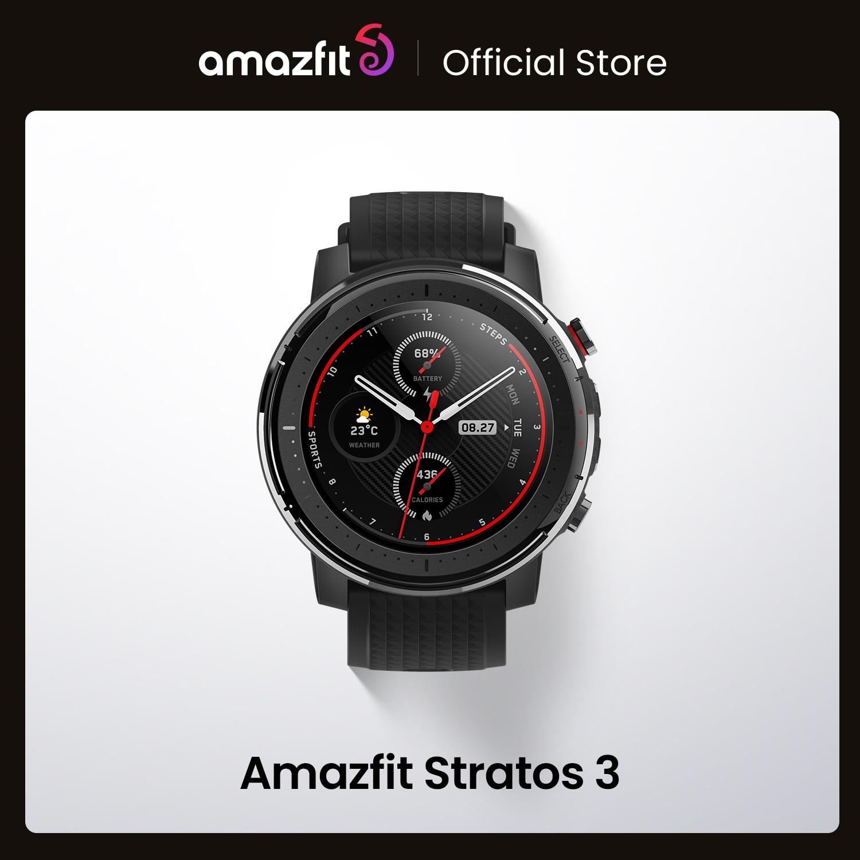 متوفر النسخة العالمية الجديدة Amazfit ستراتوس 3 ساعة ذكية نظام تحديد المواقع 5ATM الموسيقى وضع مزدوج 14 أيام ساعة ذكية لنظام أندرويد 2019