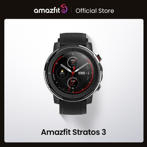 IN Stock Global Version New Amazfit Stratos 3 Smart Watch GPS 5ATM Music Dual Mode 14 Days Smartwatch For Android 2019