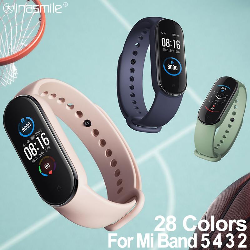 Amazing strap For xiaomi mi band 5 4 3 bracelet strap correa for xiao miband 5 4 strap smart watch wrist for Mi Band 3 4 5