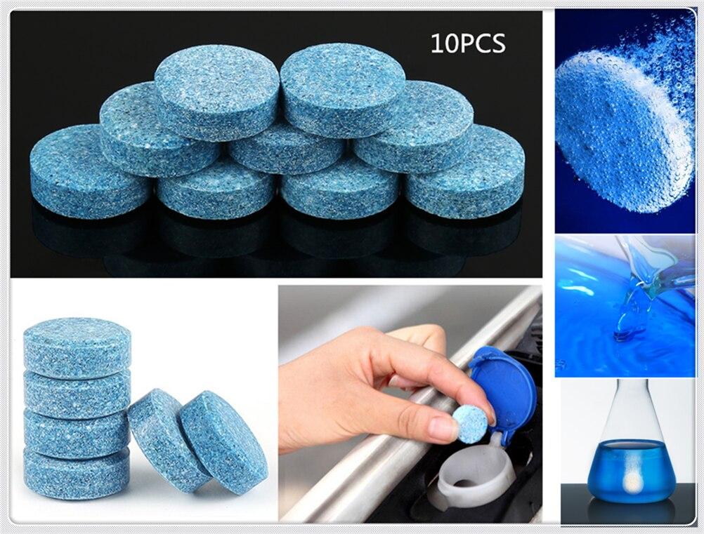 10 piezas/Pack (1 piezas = 4L agua) accesorios de coche limpiaparabrisas fino sólido para Fiat 500X Argo 500L 124 Tipo Qubo Panda Mobi