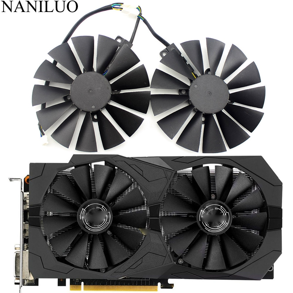 FDC10M12S9-C 0.25AMP RX470 RX570 вентилятор для ASUS AREZ Radeon RX 470 570 4G ROG strix GAMING OC GAMING graphics Card охлаждающий вентилятор
