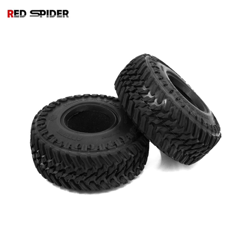 2PCS 107MM RC Car1.9 Rubber Tyres Wheel Tires for 1:10 RC Rock Crawler Axial SCX10 RR10 Wraith