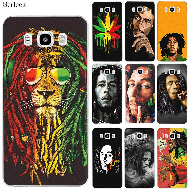Funda para teléfono móvil para Samsung Galaxy J1 J2 J3 J5 J6 J7 funda rígida Bob Marleys León Rasta León Reggae diy de protección