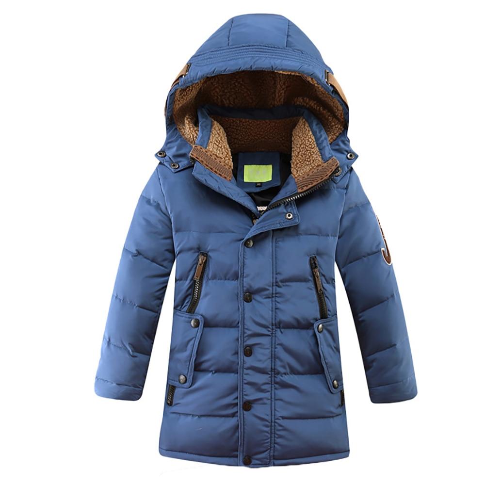 Crianças Jaqueta de Inverno 2019 Grande Menino Roupas Crianças Inverno Jaqueta de Pato Para Baixo Casaco Acolchoado para o menino Espessamento Quente Outerwear