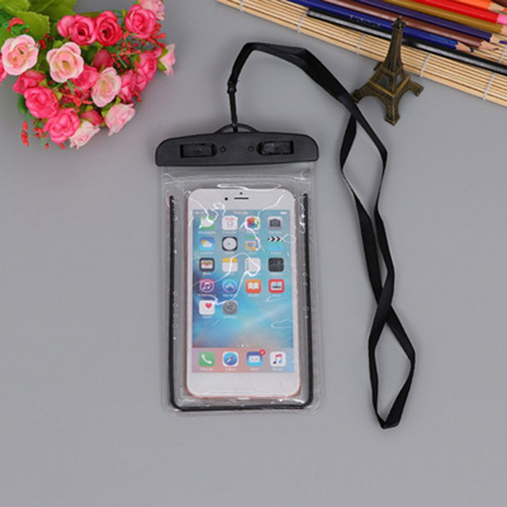 Bolsa impermeable de PVC impermeable funda de teléfono móvil cubierta seca bolsa Universal de buceo a la deriva Riving Trekking bolsas