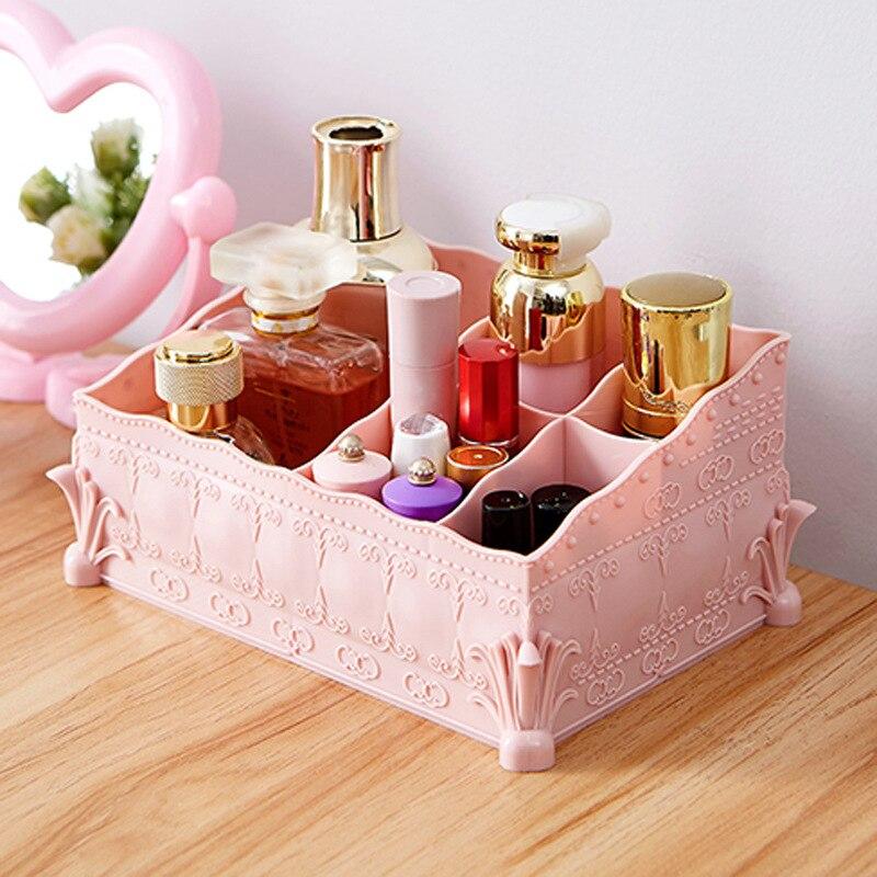 Коробка для хранения косметики в европейском стиле, настольная офисная коробка для хранения, пластиковый чехол для хранения визиток, орган...