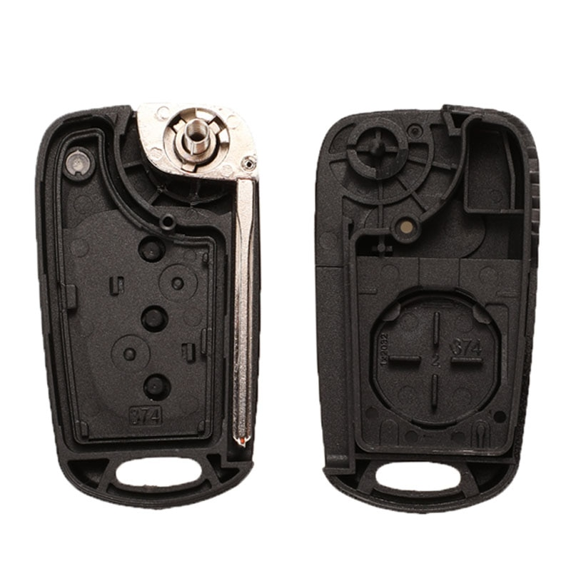 jingyuqin Remote Flip Car Key Shell For Hyundai Avante Accent I30 IX35 3 Button Folding Key Fob Replacement