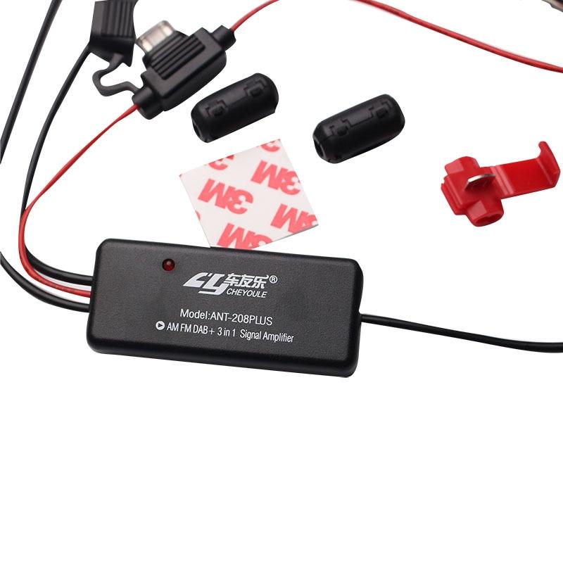 Автомобильный радиоприемник Juyou le ANT - 208 plus, усилитель сигнала FM AM DAB aerial 3 в 1, автомобильная фотосессия