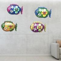 Decoration murale artistique en metal de poisson  salon  chambre a coucher  maison