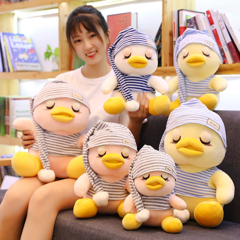 Lovely New 25cm/30cm/40cm Duck Plush Toy Cartoon Cute Stuffed Doll Soft Animal Dolls Kids Toys Birthday Gift For Children  - buy with discount