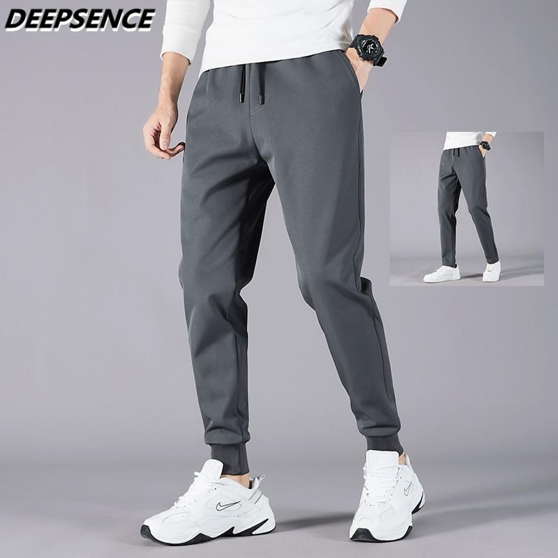 Men Full Pants 2021 Autumn New Slim Microelasticity Casual Pants Men Trend Streetwear Wild Solid Col