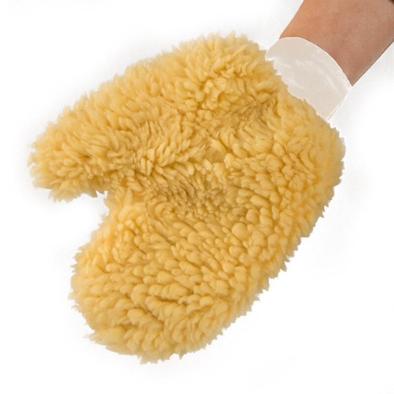 Hot Sale 24x21cm Lambswool New Plush Mitt Car Wash Glove Mitten Washing Cleaning Brush Tools Auto Detailing Brushes SpongePlush