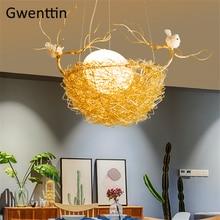 Nest Pendant Lights Home Art Decor Hanging Lamps for Dining Room Bedroom Hanglamp Led Light Fixtures Loft Industrial Luminarias