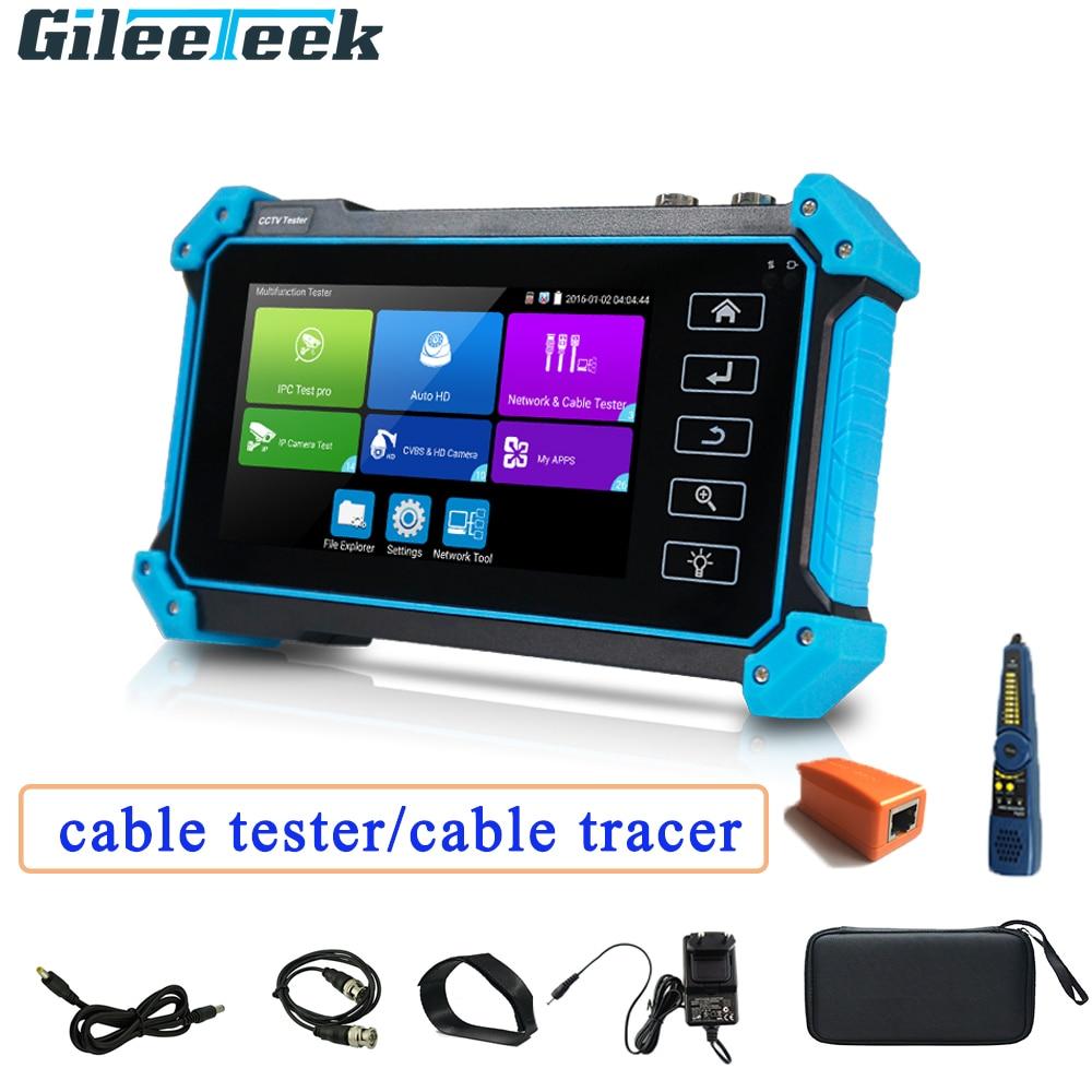 ipc 9310 poe wifi 4 3 5 in one touchscreen cctv tester for ipc analog camera ipc 1080p ahd cvi tvi bnc network cable tester Cctv Tester IPC-5200 Plus Full 8MP IP CVI TVI AHD SDI Analog 6 In 1 Hd Tester-monitor Vga & 4k HDMI Input Cable Tracer Power In