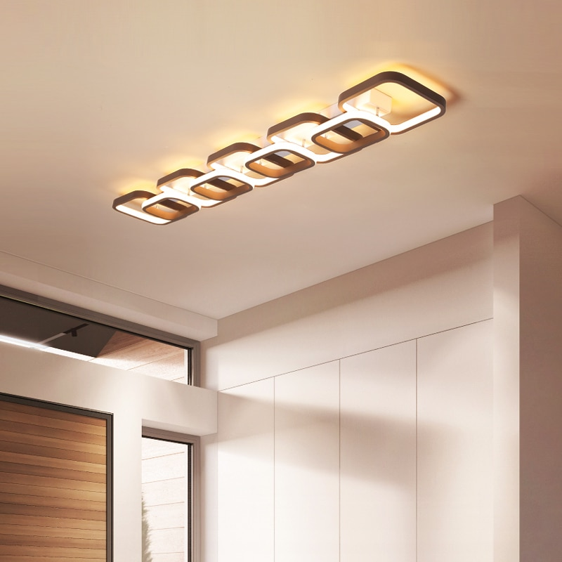 luminaria de teto quadrada com anel para sala de estar quarto e domesticos com leds modernos