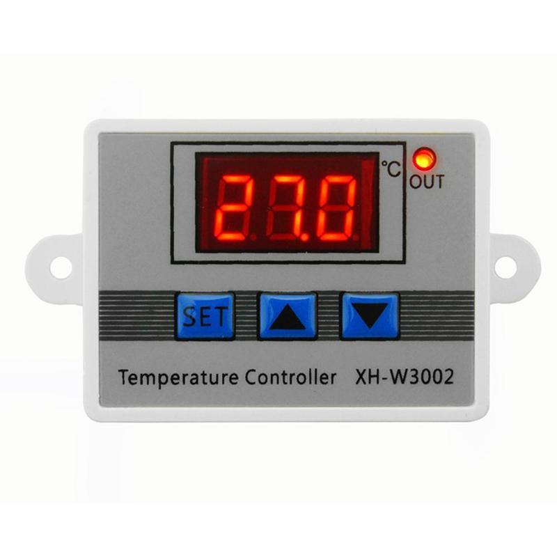 Controlador de temperatura Digital LED W3002 AC 10A 12/24/220V, termostato, incubadora, refrigeración, regulador de temperatura de agua