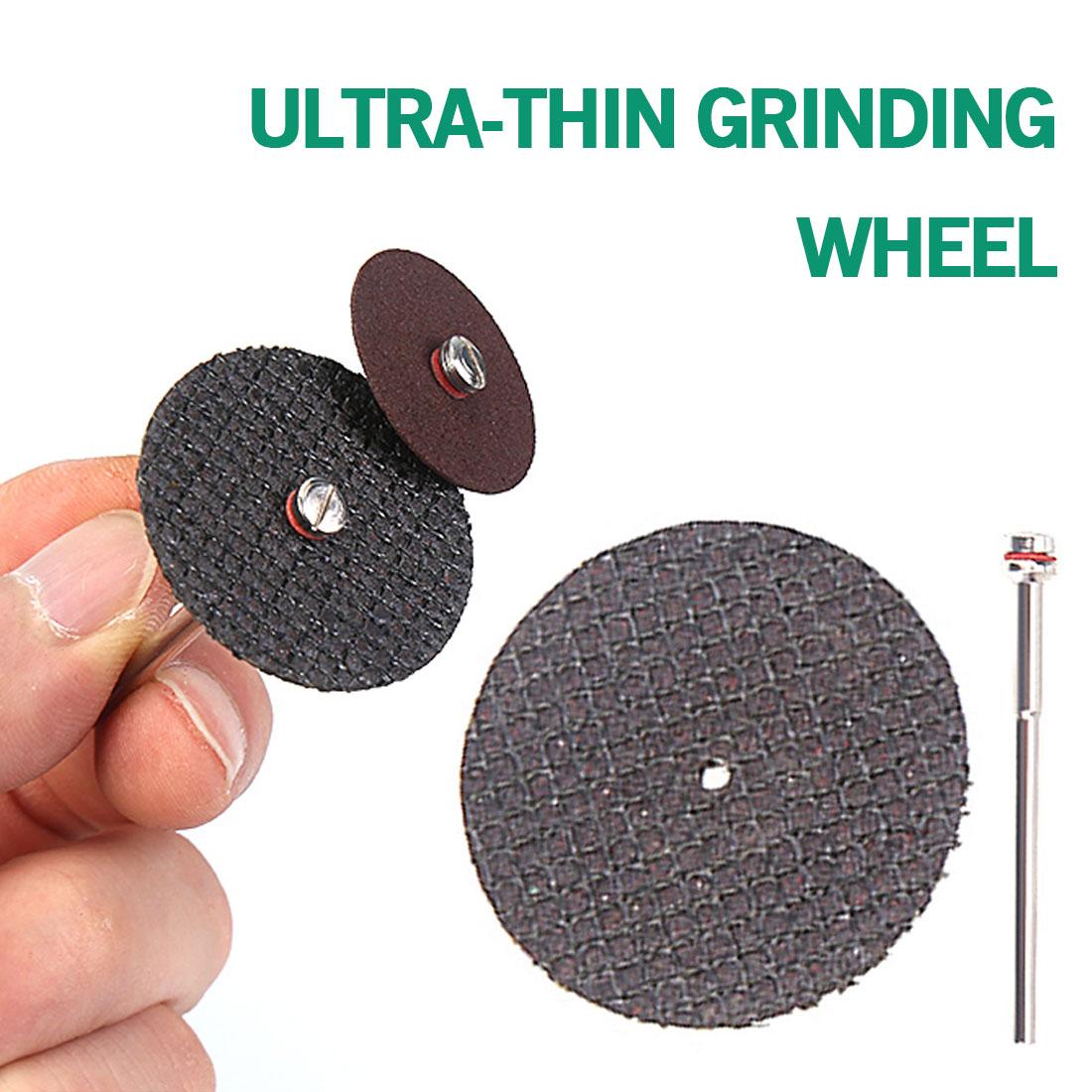 Abrasive Disc Wheel 50Pcs Fiberglass Tool With 4 Mandrels Rotary For Cutting Grooving Metals High-Grade Wood/Plastics/Ceramics