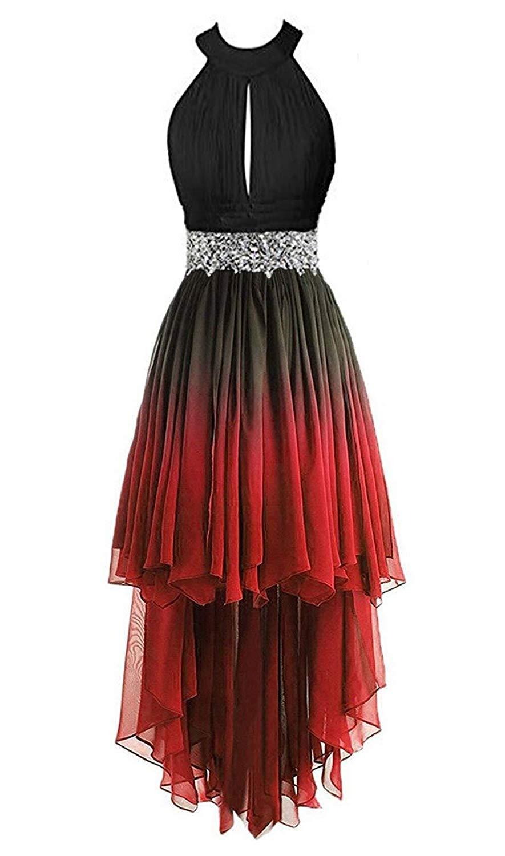 Gardlilac-فستان سهرة قصير لوصيفات العروس ، فستان حفلة ، متدرج ، ياقة رسن ، لون متدرج ، 2021
