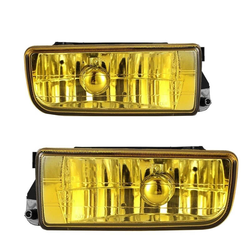 Luz antiniebla para parachoques de coche, lente amarilla para BMW Serie 3 E36 1992-1998