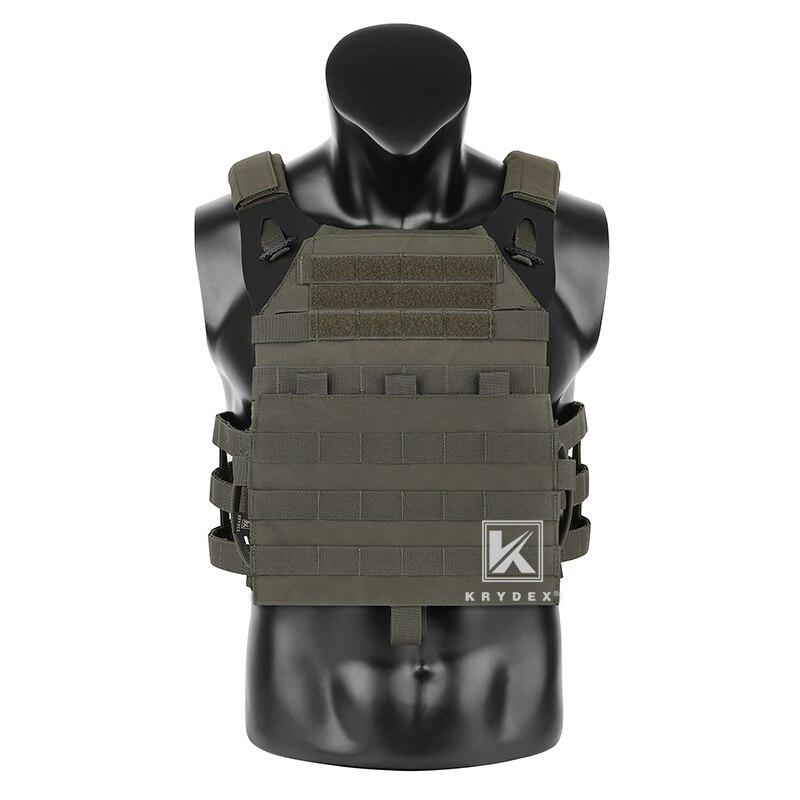 KRYDEX JPC2.0 Tactical Vest + MOLLE Panel Assult Lightweight Body Armor Adjustable Cummerbund Jumpable Plate Carrier Combat Vest
