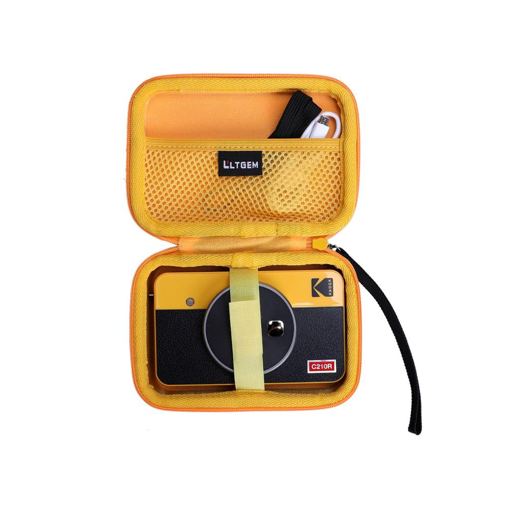 LTGEM Waterproof EVA Hard Case for Kodak Mini Shot 2 Retro Portable Wireless Instant Camera & Photo