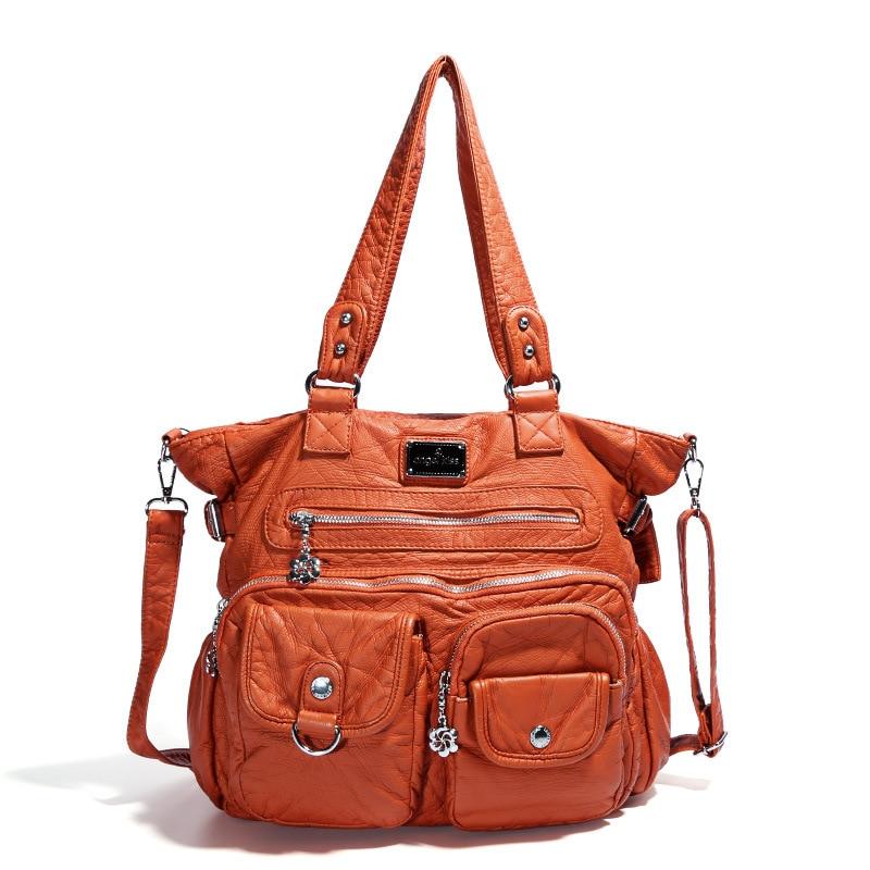 حقيبة يد جلدية عتيقة فاخرة للنساء ، حقيبة يد كلاسيكية عالية الجودة ، حزام كتف ، 2020