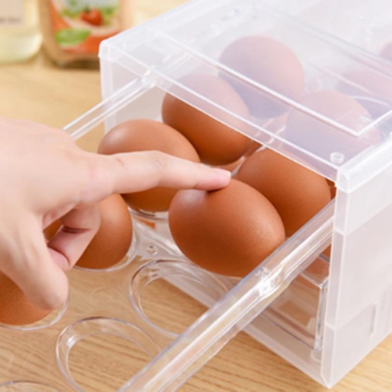 1 قطعة بيضة بلاستيكية حاوية صندوق الثلاجة الطازجة تخزين صناديق أدوات مطبخ المحمولة البرية نزهة البيض المنظم صندوق بيض