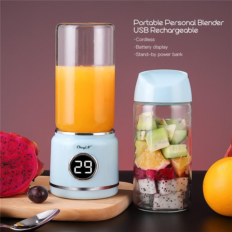 Vaso exprimidor portátil, mezclador de frutas, botella, minilicuadora recargable por USB, licuadora, mezcladora de hielo, batidora con 6 cuchillas 43