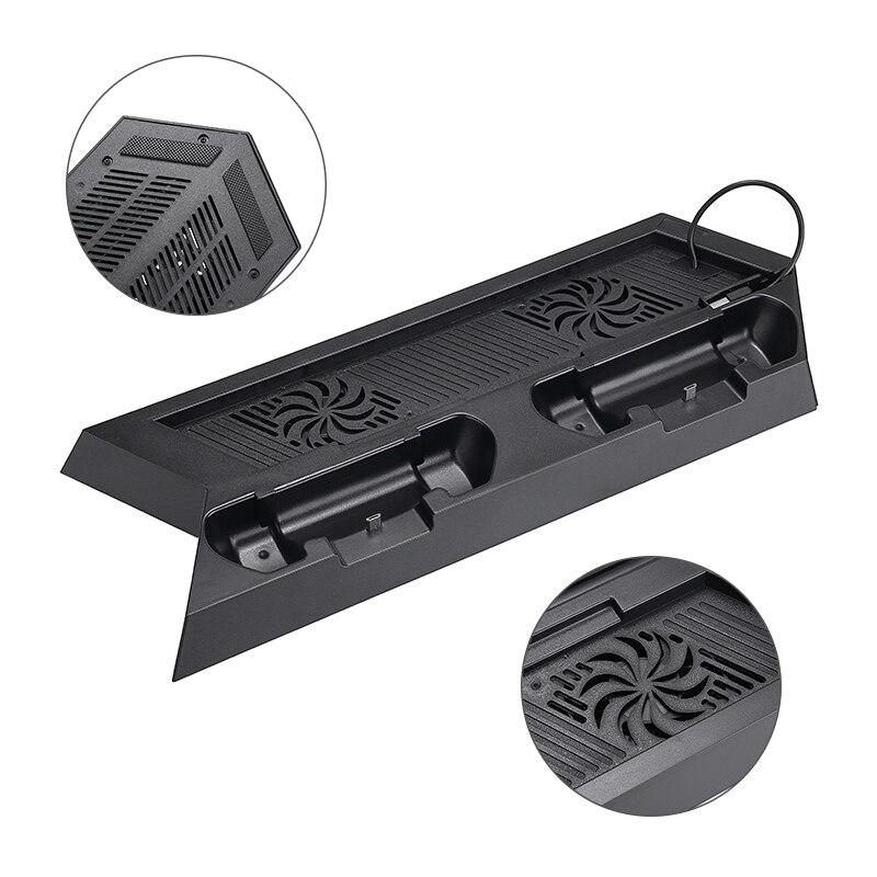 Carga rápida PS4 Dock Dual cargador de controladores para PlayStation 4 ventilador...