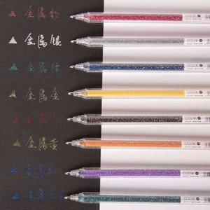 1 Set 8 Colors Magical Pen Glitter Gel Pens Set Drawing Painting Colorful Color Changing Gel Highlighter JR Deals