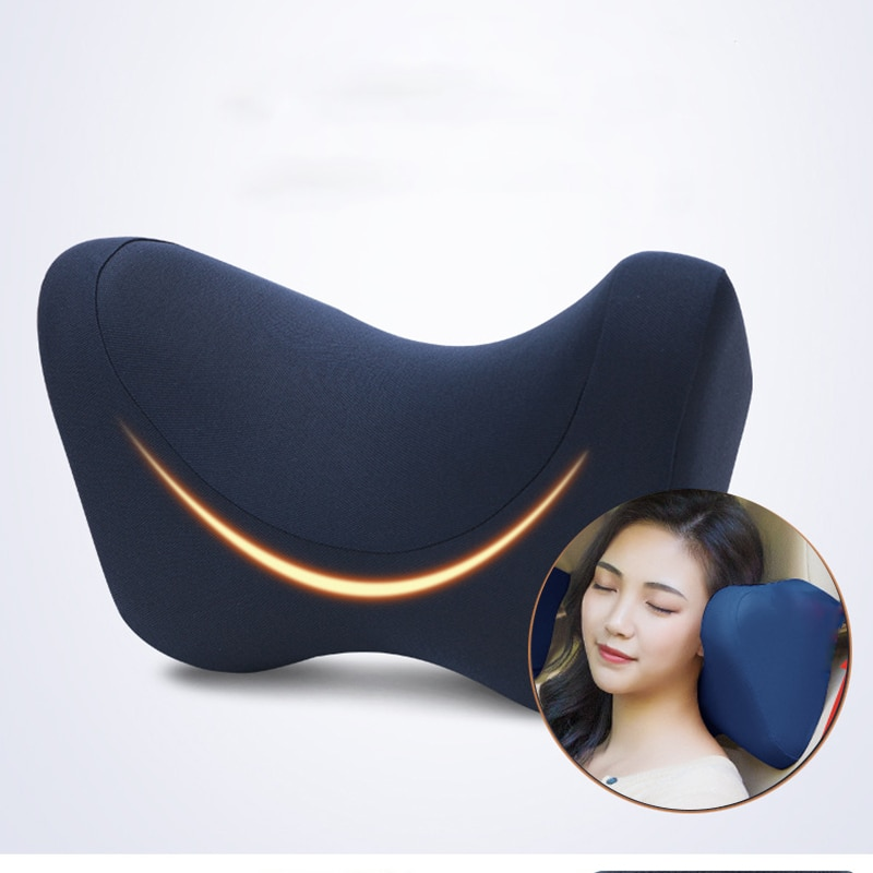 Car Seat Headrest Neck Support Pillow Travel For Car Memory Foam Cushion Pillow Auto Seat Headrest Neck Pillow Auto Accessories kkysyelva neck pillow lumbar waist support headrest pillows back cushion seat supports memory foam seat covers auto accessories