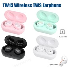 Wireless Bluetooth-compati Earphone Headphones V5.0 Stereo Touch Screen In-ear Sport Noise Cancellin