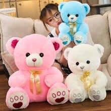 Anime mignon couleur ruban ours en peluche jouet pour enfants Puzzle poupée ours en peluche fournitures de noël cadeau peluche garçon poupée