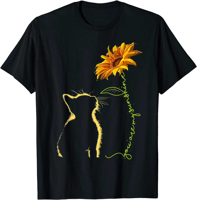2021, футболка, женские милые летние топы, футболка, футболка унисекс, кошка, ты мой солнечный свет, футболка, футболка, подарки, футболка