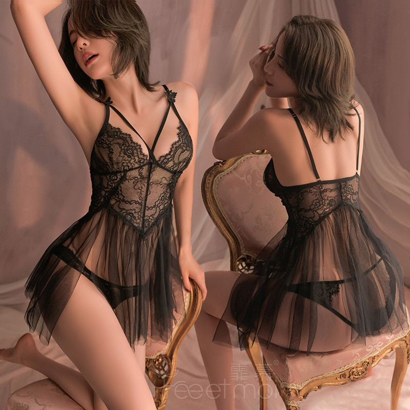 Camisón de princesa de ensueño para mujer, lencería erótica, ropa interior Sexy