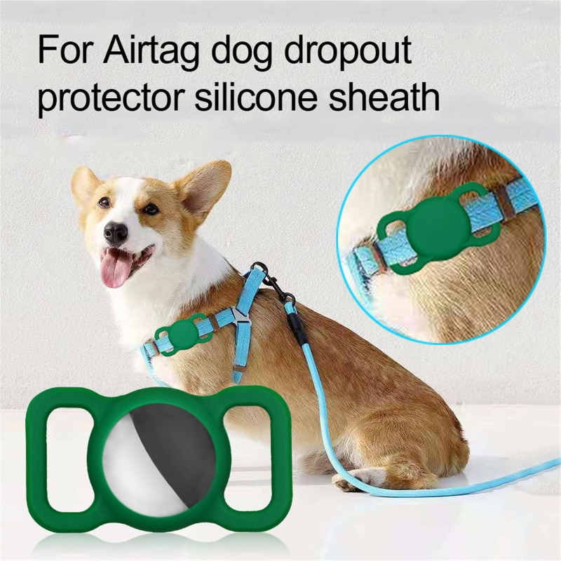 Dog Cat Collar Silicone Case For Apple Airtags Protective Cover For Apple Locator Tracker Anti-lost Device Collar Protect Sleeve