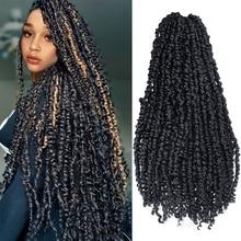 YxCherishair Synthetic Passion Twist Pre-looped Fluffy Crochet Braid Hair Ombre Braiding Hair Extensions 3D Cubic Twist