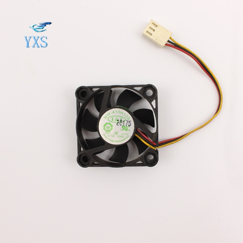T & T ventilador de refrigeración Original MW-410H12B 4cm 40*40*10mm ventilador DC 12V 4010 A rodamientos de doble bola 3 cables ventilador inversor ventilador