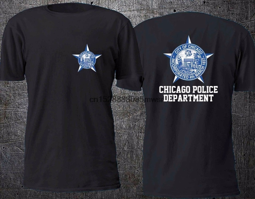 2019 neueste Männer Lustige Druck T Shirt Männer Neue Chicago Polizei Abteilung Neue Design Baumwolle Männlichen T Hemd Entwicklung