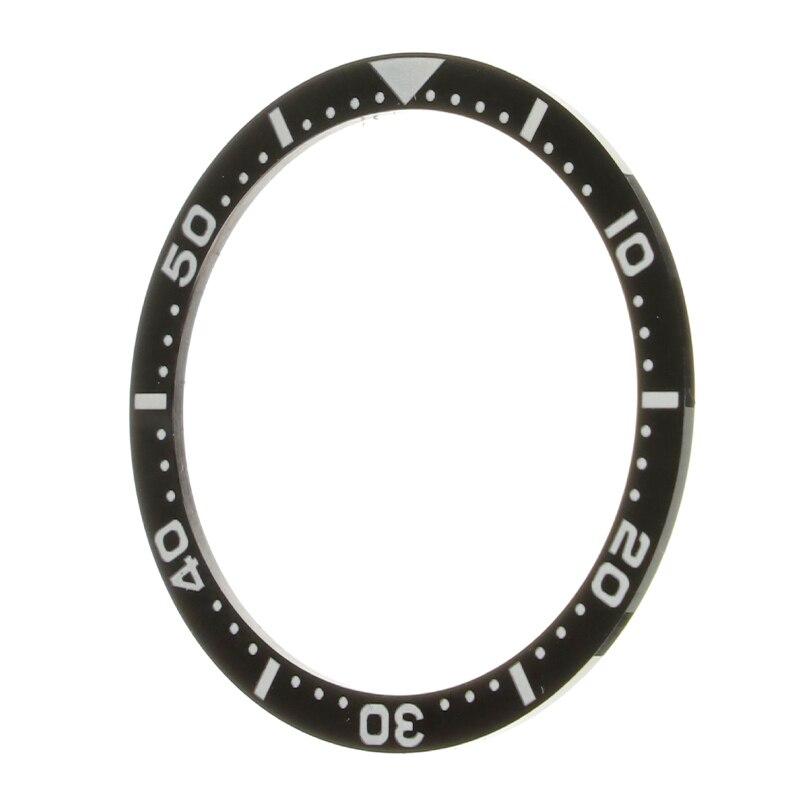 Inserção para Seiko Rosto para Submariner Relógios Substituir Acessórios Preto Cerâmica Moldura Relógio Automático Masculino 38*31.6*1mm