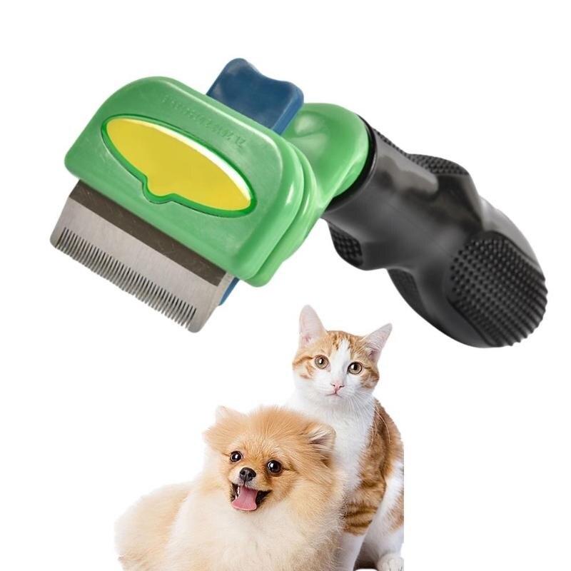 Pet cão gato removedor de pêlos escova pet grooming ferramentas pet trimmer pentes aço inoxidável derramamento de cabelo trimmer pente para gato pet